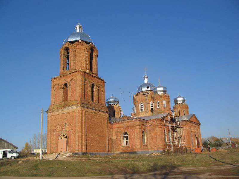 Церковь Живоначальной Тоицы. Деревня Михайловка Пензенская область